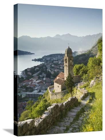 Gospa Od Zdravlja Church, Kotor, Kotor Bay, Montenegro-Walter Bibikow-Stretched Canvas Print