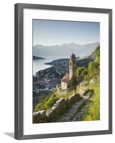 Gospa Od Zdravlja Church, Kotor, Kotor Bay, Montenegro-Walter Bibikow-Framed Art Print