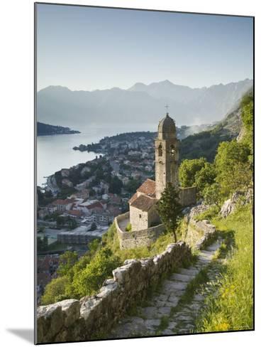 Gospa Od Zdravlja Church, Kotor, Kotor Bay, Montenegro-Walter Bibikow-Mounted Photographic Print