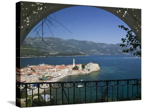 Old Town, Budva, Montenegro-Walter Bibikow-Stretched Canvas Print