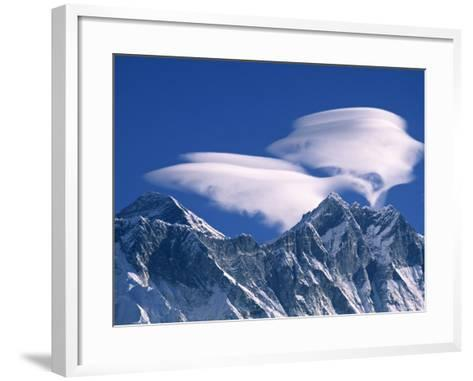Everest and Lhotse, Nepal-Jon Arnold-Framed Art Print