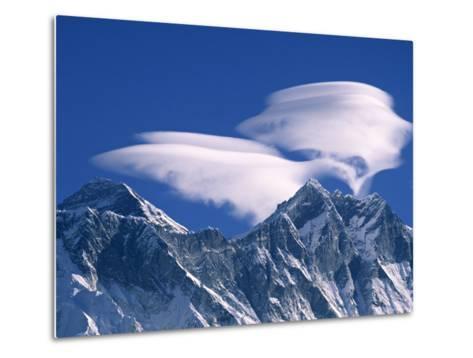 Everest and Lhotse, Nepal-Jon Arnold-Metal Print