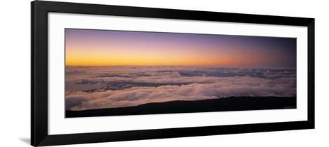 View over Clouds at Dawn-Walter Bibikow-Framed Art Print