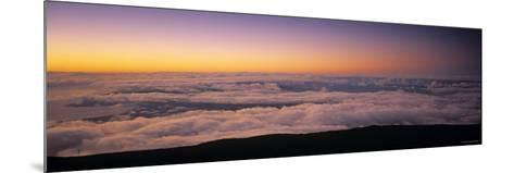 View over Clouds at Dawn-Walter Bibikow-Mounted Photographic Print