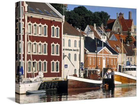 Harbour and Gamle Stavanger, Norway-Doug Pearson-Stretched Canvas Print