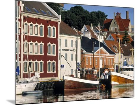 Harbour and Gamle Stavanger, Norway-Doug Pearson-Mounted Photographic Print