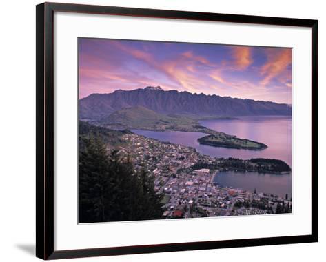 Queenstown, Lake Whakatipu, New Zealand-Doug Pearson-Framed Art Print