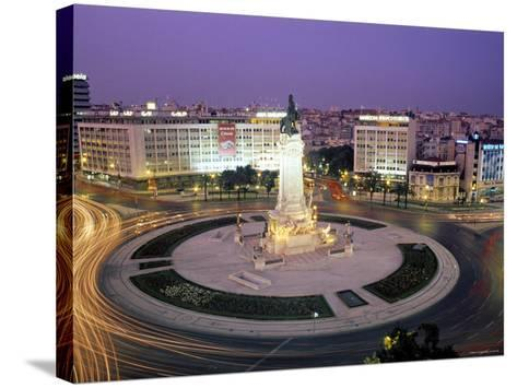 Praca Do Marques de Pombal, Lisbon, Portugal-Peter Adams-Stretched Canvas Print