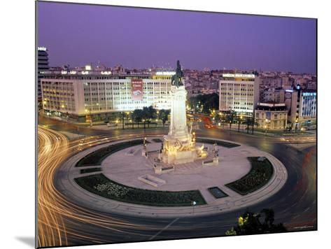Praca Do Marques de Pombal, Lisbon, Portugal-Peter Adams-Mounted Photographic Print