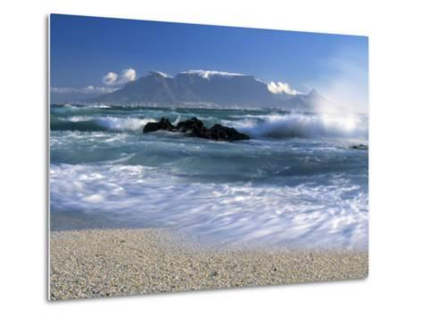 Table Mountain, Cape Town, South Africa-Peter Adams-Metal Print