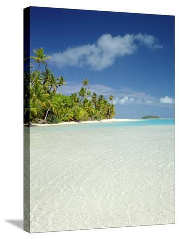 Palm Trees and Tropical Beach, Aitutaki Island, Cook Islands, Polynesia-Steve Vidler-Stretched Canvas Print
