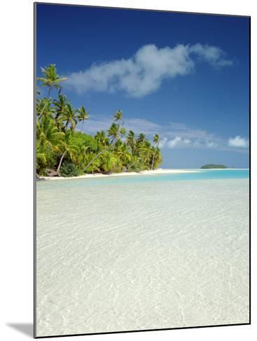 Palm Trees and Tropical Beach, Aitutaki Island, Cook Islands, Polynesia-Steve Vidler-Mounted Photographic Print