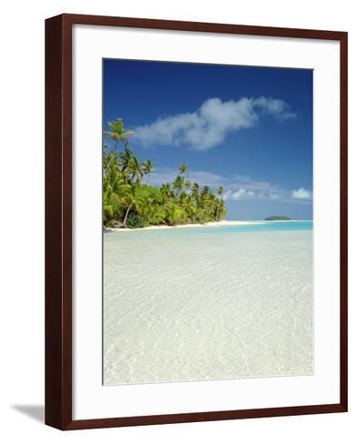 Palm Trees and Tropical Beach, Aitutaki Island, Cook Islands, Polynesia-Steve Vidler-Framed Art Print