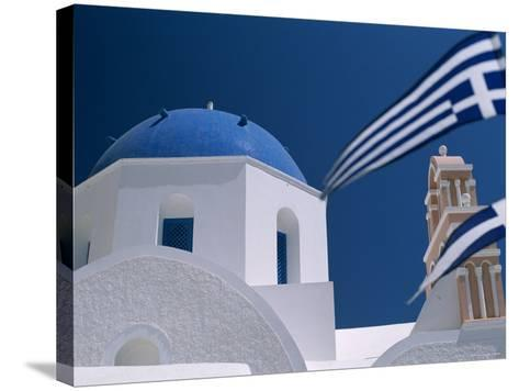 Santorini, Oia, Cyclades Islands, Greece-Steve Vidler-Stretched Canvas Print