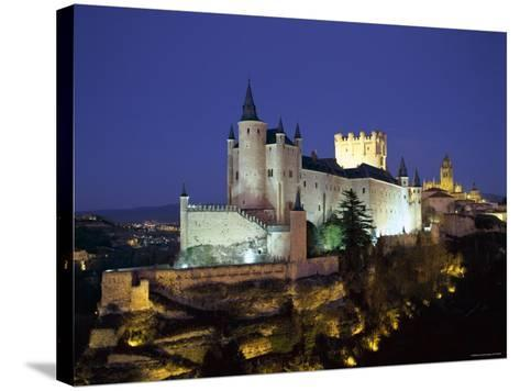 Alcazar, Night View, Segovia, Castilla Y Leon, Spain-Steve Vidler-Stretched Canvas Print