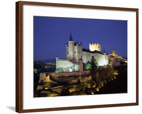 Alcazar, Night View, Segovia, Castilla Y Leon, Spain-Steve Vidler-Framed Art Print