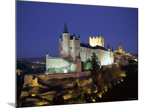 Alcazar, Night View, Segovia, Castilla Y Leon, Spain-Steve Vidler-Mounted Photographic Print