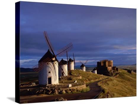 La Mancha, Windmills, Consuegra, Castilla-La Mancha, Spain-Steve Vidler-Stretched Canvas Print