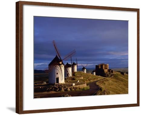 La Mancha, Windmills, Consuegra, Castilla-La Mancha, Spain-Steve Vidler-Framed Art Print