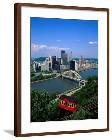 Duquesne Incline Cable Car and Ohio River, Pittsburgh, Pennsylvania, USA-Steve Vidler-Framed Art Print