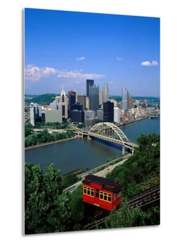 Duquesne Incline Cable Car and Ohio River, Pittsburgh, Pennsylvania, USA-Steve Vidler-Metal Print