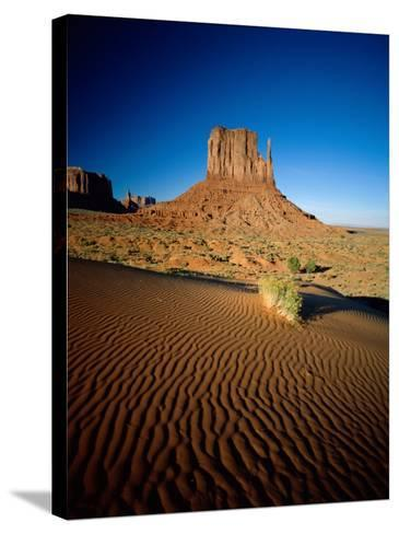 Monument Valley and Sand Dunes, Arizona, USA-Steve Vidler-Stretched Canvas Print