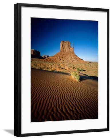 Monument Valley and Sand Dunes, Arizona, USA-Steve Vidler-Framed Art Print