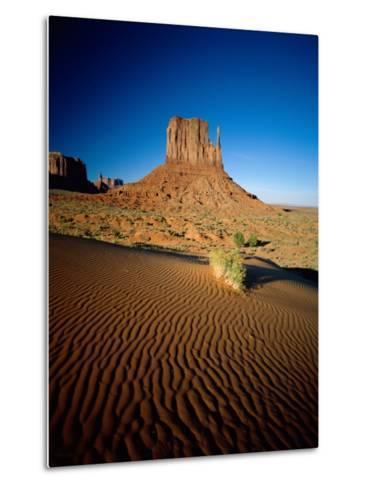 Monument Valley and Sand Dunes, Arizona, USA-Steve Vidler-Metal Print