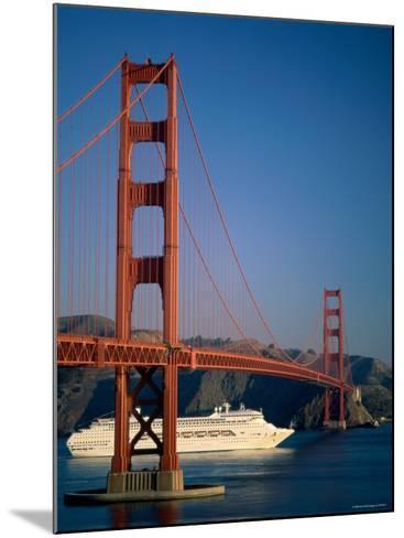 Golden Gate Bridge and Cruise Ship, San Francisco, California, USA-Steve Vidler-Mounted Photographic Print