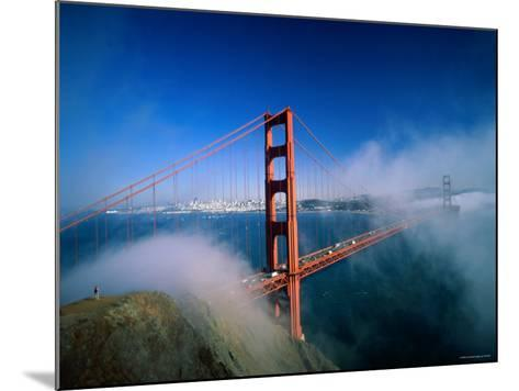 Golden Gate Bridge with Mist and Fog, San Francisco, California, USA-Steve Vidler-Mounted Photographic Print