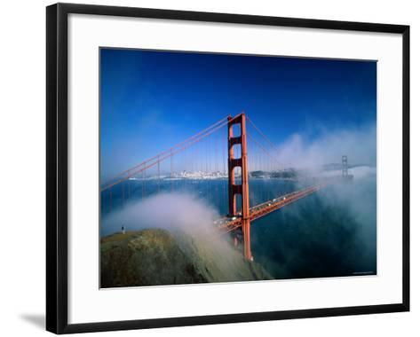 Golden Gate Bridge with Mist and Fog, San Francisco, California, USA-Steve Vidler-Framed Art Print