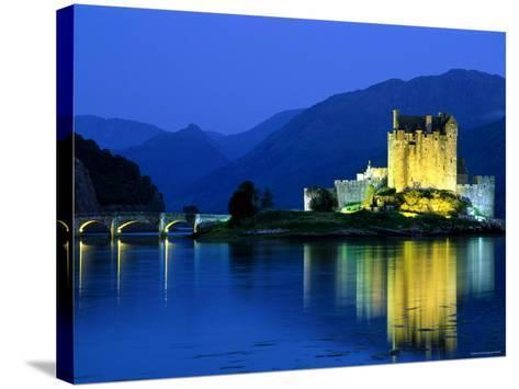 Eilean Donan Castle, Loch Duich, Highlands, Scotland-Steve Vidler-Stretched Canvas Print