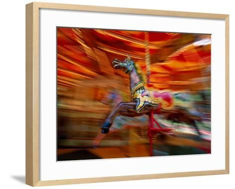 Carousel, Blackpool, Lancashire, England-Steve Vidler-Framed Art Print