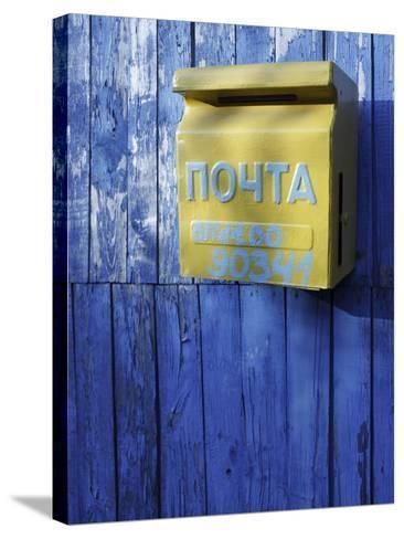 Post box, Novoselitsa, Zakarpattia Oblast, Transcarpathia, Ukraine-Ivan Vdovin-Stretched Canvas Print