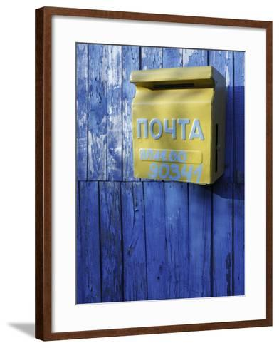 Post box, Novoselitsa, Zakarpattia Oblast, Transcarpathia, Ukraine-Ivan Vdovin-Framed Art Print