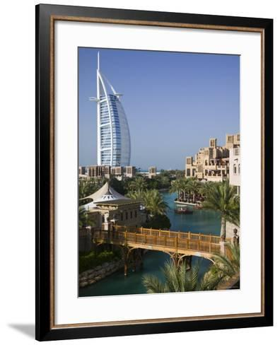 Burj Al Arab Hotel from the Madinat Jumeirah Complex, Dubai, United Arab Emirates-Walter Bibikow-Framed Art Print
