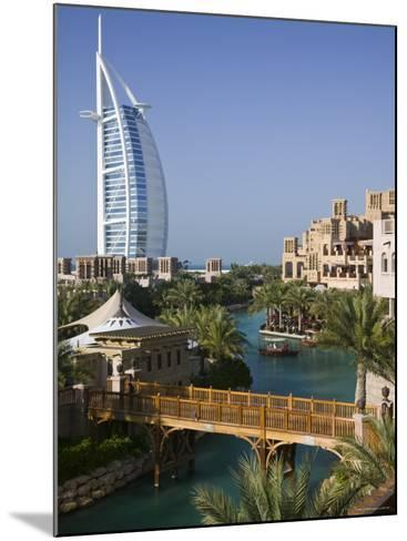 Burj Al Arab Hotel from the Madinat Jumeirah Complex, Dubai, United Arab Emirates-Walter Bibikow-Mounted Photographic Print