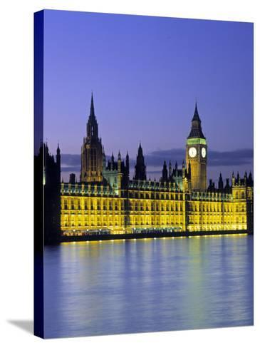 Houses of Parliament, London, England-Rex Butcher-Stretched Canvas Print
