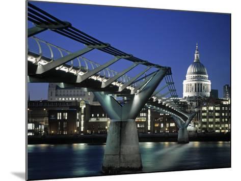 Millennium Bridge and St. Paul's, London, England-Alan Copson-Mounted Photographic Print
