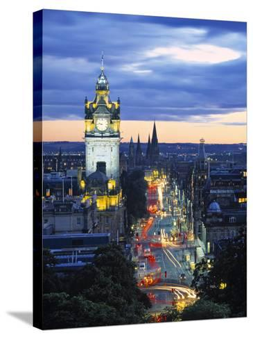 Princes St., Calton Hill, Edinburgh, Scotland-Doug Pearson-Stretched Canvas Print