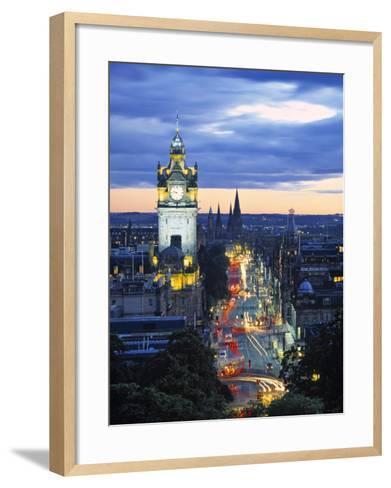 Princes St., Calton Hill, Edinburgh, Scotland-Doug Pearson-Framed Art Print