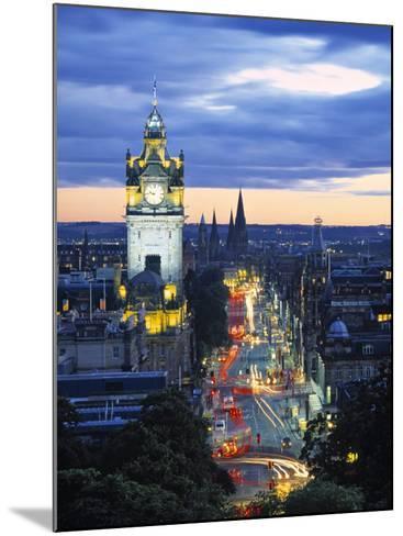 Princes St., Calton Hill, Edinburgh, Scotland-Doug Pearson-Mounted Photographic Print