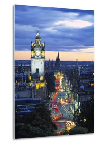 Princes St., Calton Hill, Edinburgh, Scotland-Doug Pearson-Metal Print
