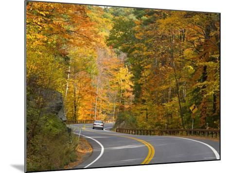 Road Nr. Lake George, New York State, USA-Demetrio Carrasco-Mounted Photographic Print