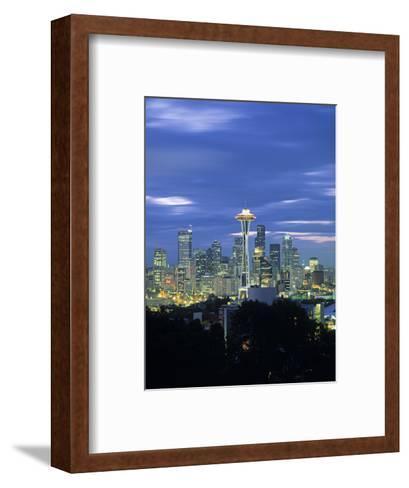 Seattle Skyline Fr. Queen Anne Hill, Washington, USA-Walter Bibikow-Framed Art Print