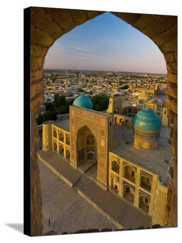 Mir-I-Arab Madrassah from Kalon minaret, Bukhara, Uzbekistan-Michele Falzone-Stretched Canvas Print