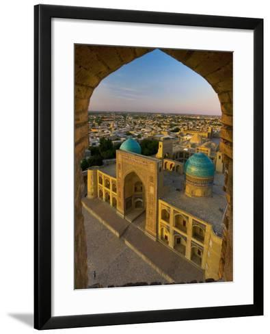 Mir-I-Arab Madrassah from Kalon minaret, Bukhara, Uzbekistan-Michele Falzone-Framed Art Print