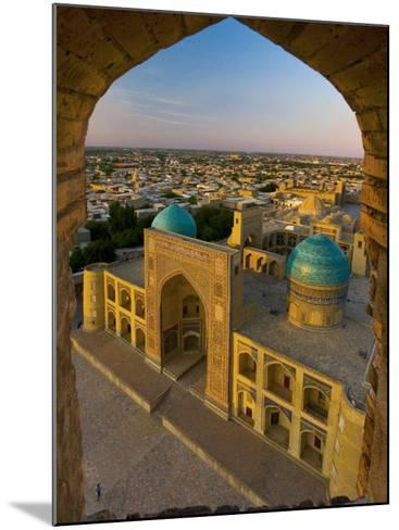 Mir-I-Arab Madrassah from Kalon minaret, Bukhara, Uzbekistan-Michele Falzone-Mounted Photographic Print