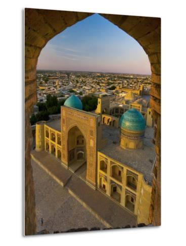 Mir-I-Arab Madrassah from Kalon minaret, Bukhara, Uzbekistan-Michele Falzone-Metal Print