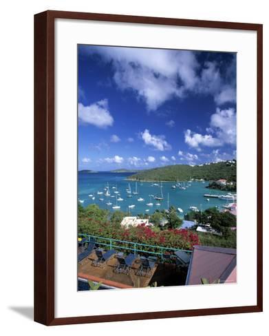Cruz Bay, St. John, Us Virgin Islands, Caribbean-Walter Bibikow-Framed Art Print